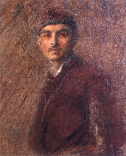Autoportret Źródło: Władysław Podkowiński, Autoportret, 1887, olej na płótnie, Muzeum Śląskie, Katowice, domena publiczna.