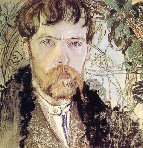 Autoportret  Źródło: Stanisław Wyspiański, Autoportret, 1902, pastel, Muzeum Narodowe wWarszawie, domena publiczna.