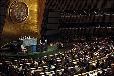 Sala Zgromadzenia Ogólnego ONZ Źródło: Sala Zgromadzenia Ogólnego ONZ, domena publiczna.