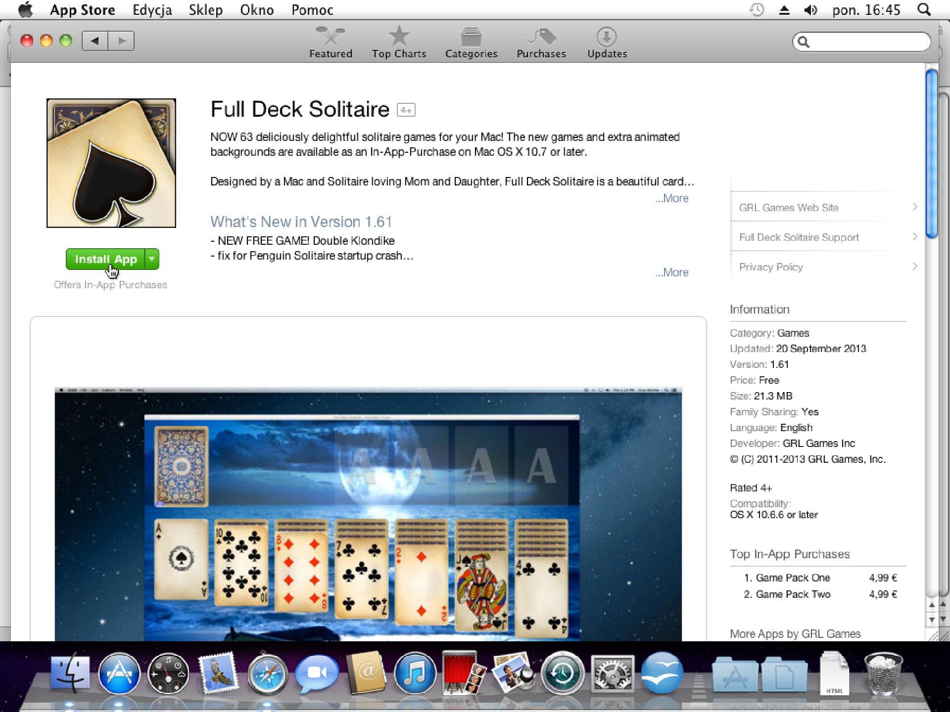 Zrzut okna 7 procesu instalacji programu wsystemie Mac OS X