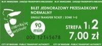 Fotografia przedstawiająca bilet 90-minutowy