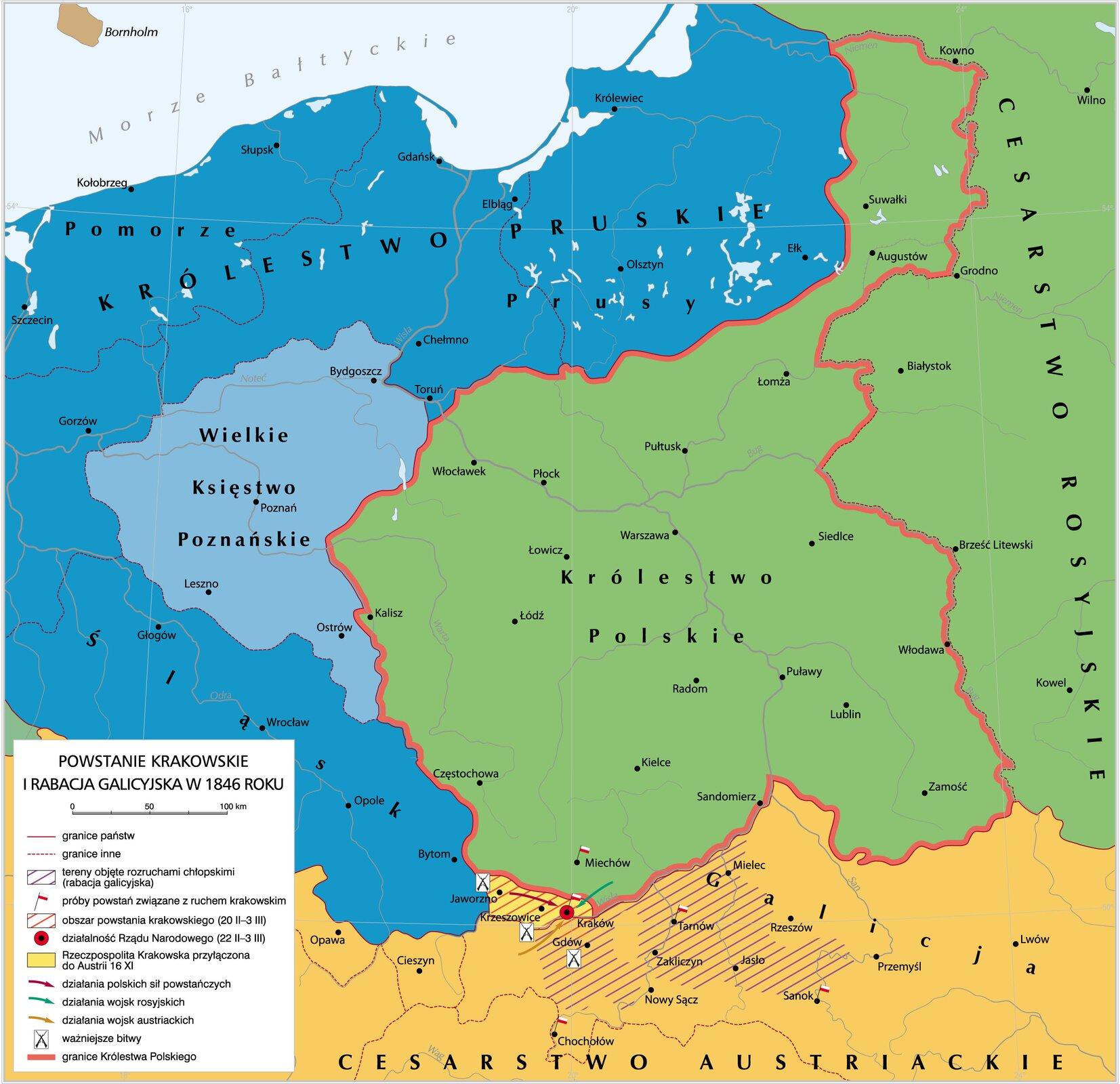 Powstanie krakowskie irabacja galicyjska Źródło: Krystian Chariza izespół, Powstanie krakowskie irabacja galicyjska , licencja: CC BY 3.0.