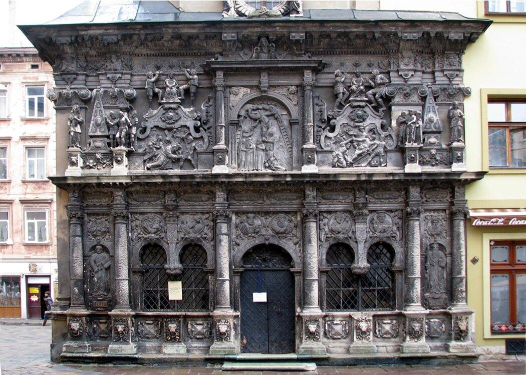 Lwów -kaplica Boimów, widok zzewnątrz Lwów -kaplica Boimów, widok zzewnątrz Źródło: Robin & Bazylek, Wikimedia Commons, licencja: CC BY 2.0.