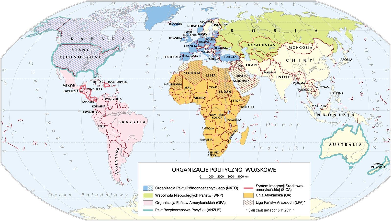 Organizacje polityczne iwojskowe