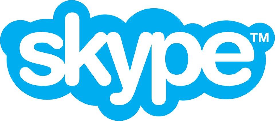 Logo komunikatora internetowego: Skype