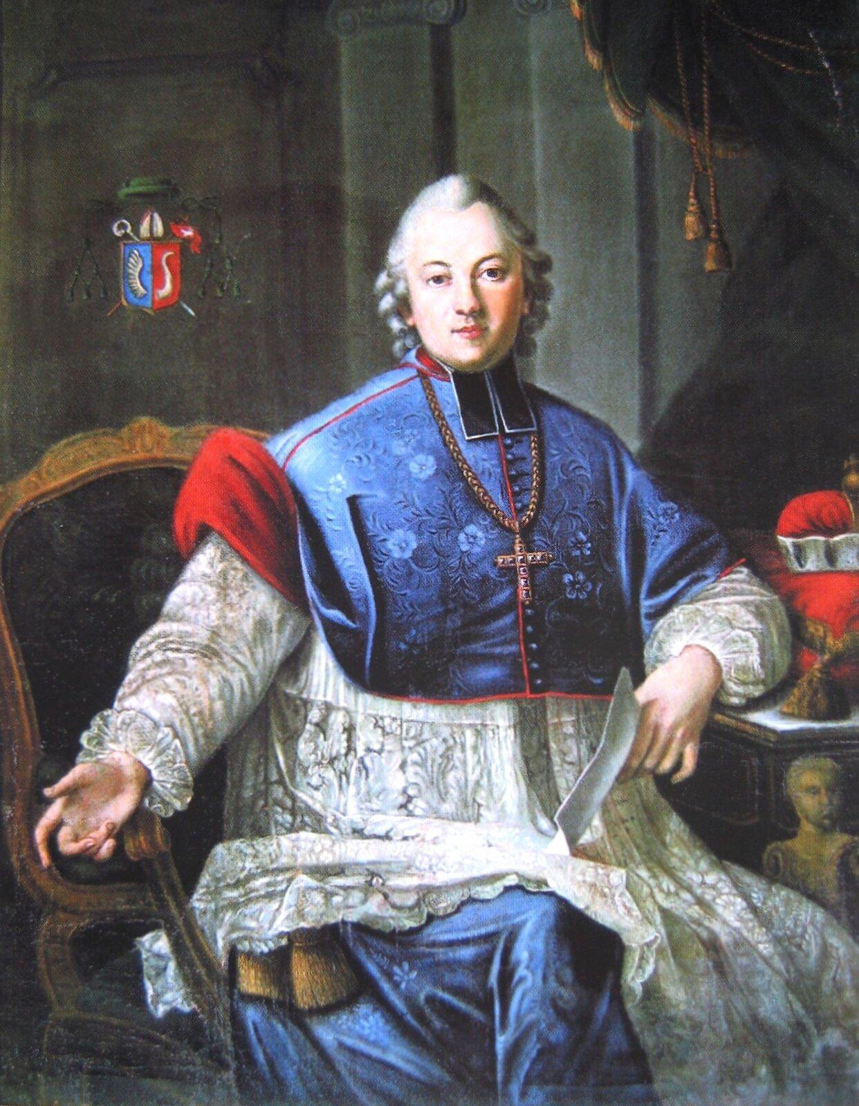 Ignacy Krasicki - portret (do biogramu!) Źródło: domena publiczna.