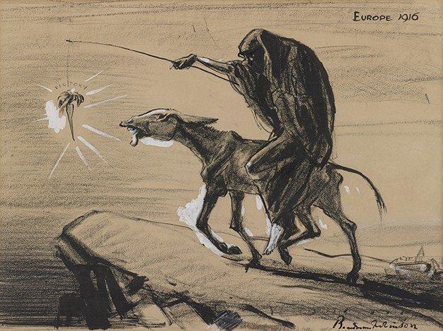 Europa 1916 Źródło: Boardman Robinson, Europa 1916, 1916, domena publiczna.