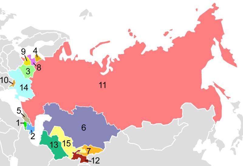Rozpad Związku Radzieckiego Rozpad Związku Radzieckiego Źródło: Aris Katsaris, licencja: CC BY-SA 3.0.
