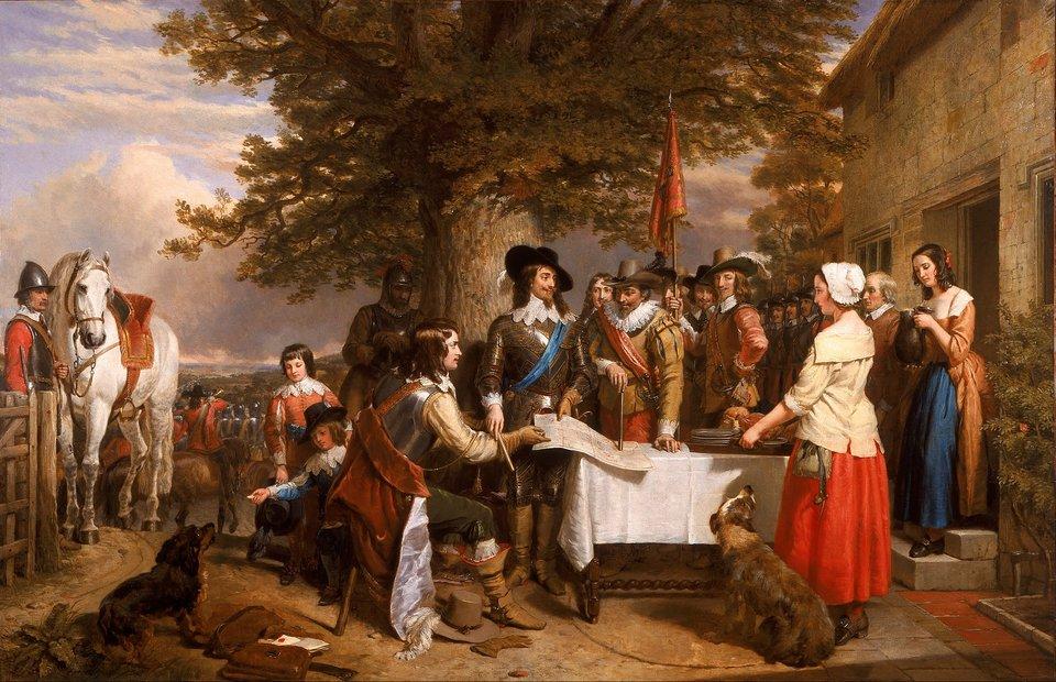 Karol IKarol Ipodczas pierwszejbitwy po ucieczce króla zLondynu, starcie to rozpoczynało angielską wojnę domową. Źródło: Charles Landseer, Karol I, 1845, olej na płótnie, domena publiczna.