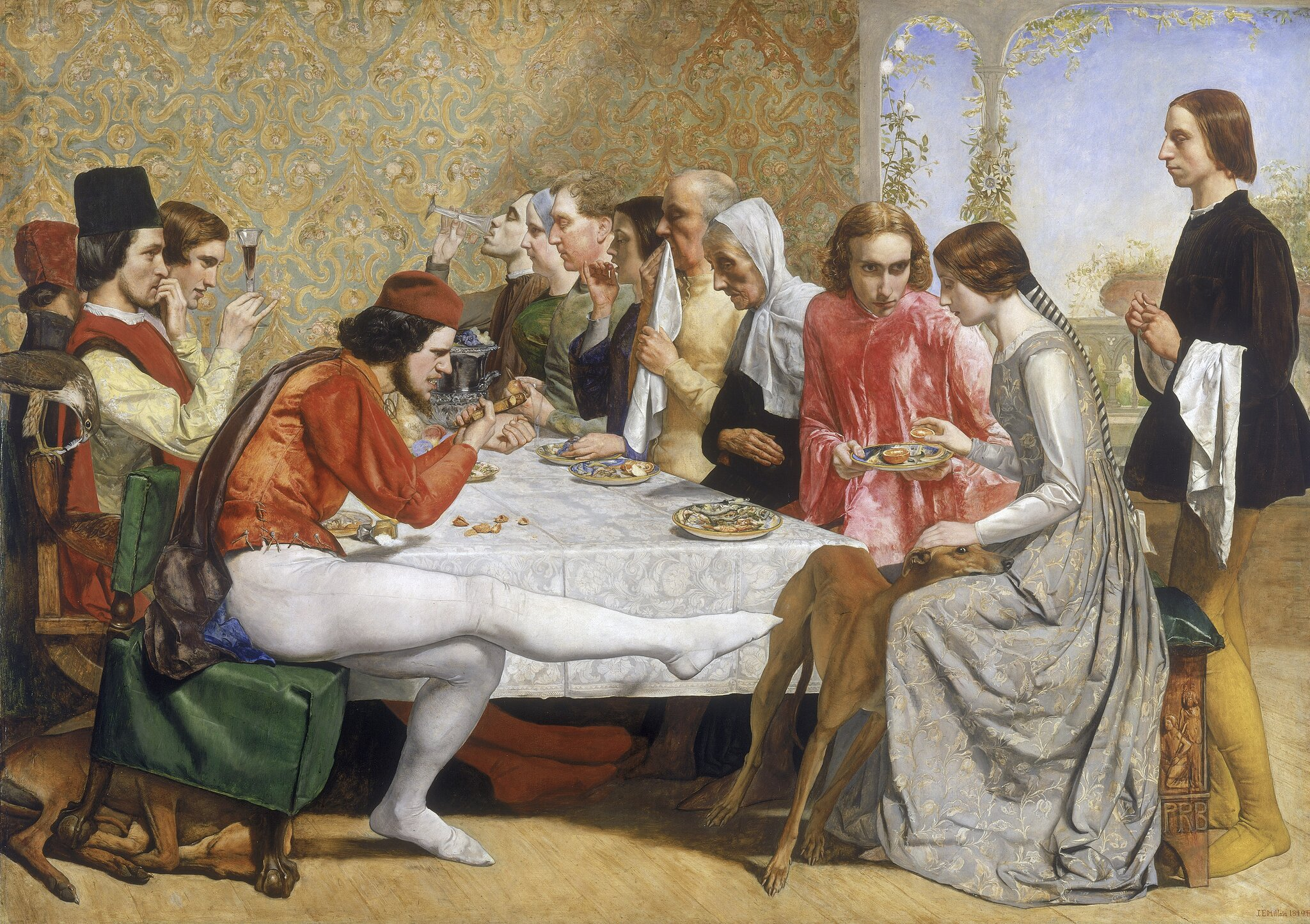 Isabella Źródło: John Everett Millais, Isabella, 1849, Walker Art Gallery, Anglia, domena publiczna.