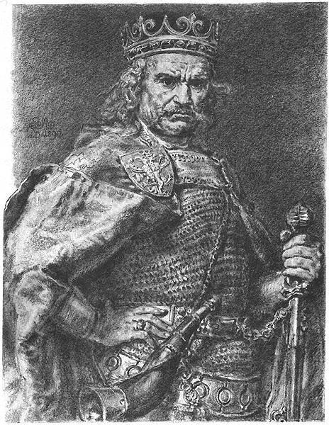 Władysław Łokietek Źródło: Jan Matejko, Władysław Łokietek, 1890-1892, licencja: CC BY-SA 3.0.