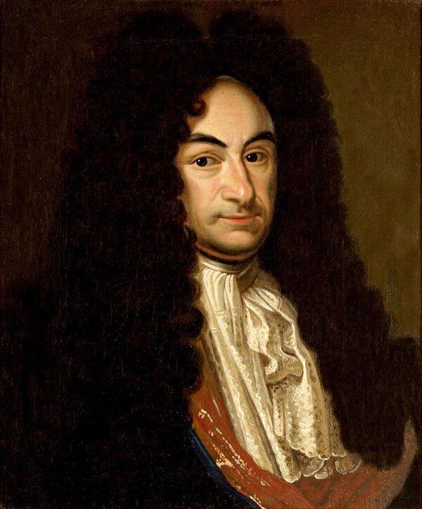 Gottfried Wilhelm Leibniz Źródło: Christoph Bernhard Francke, Gottfried Wilhelm Leibniz, ok. 1700, olej na płótnie, Herzog Anton Ulrich Museum, domena publiczna.