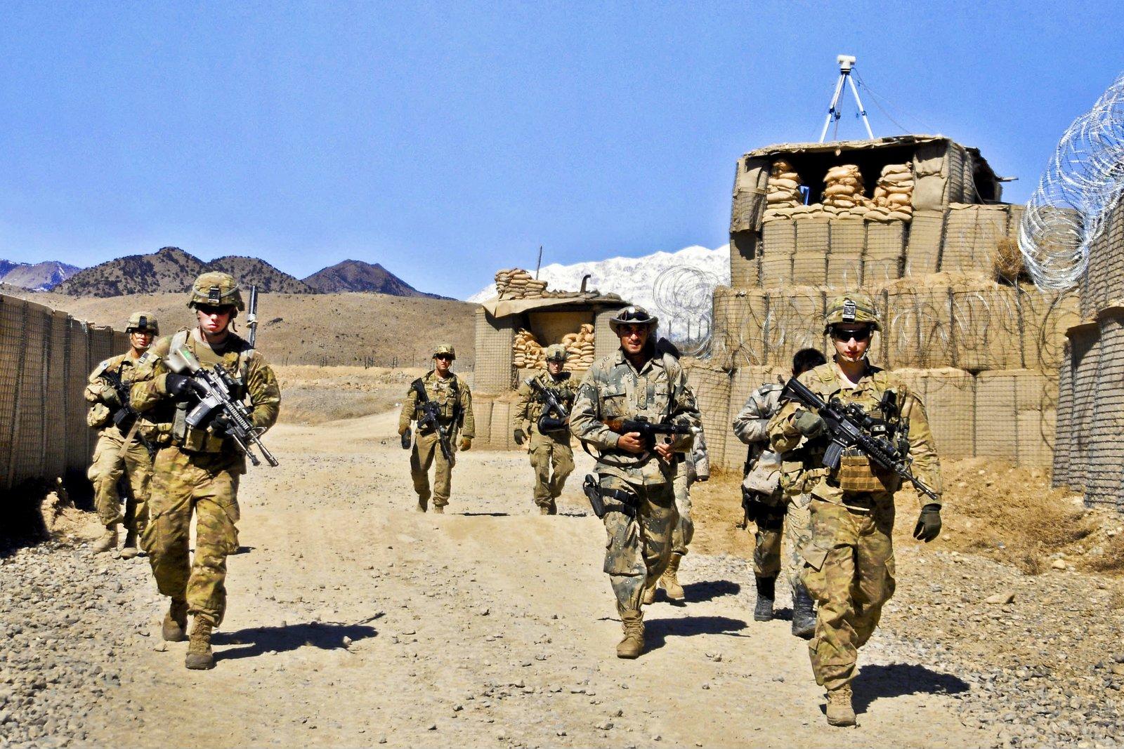 Amerykańscy żołnierze wprowincji Paktia wlutym 2012 Źródło: Jason Epperson, domena publiczna.