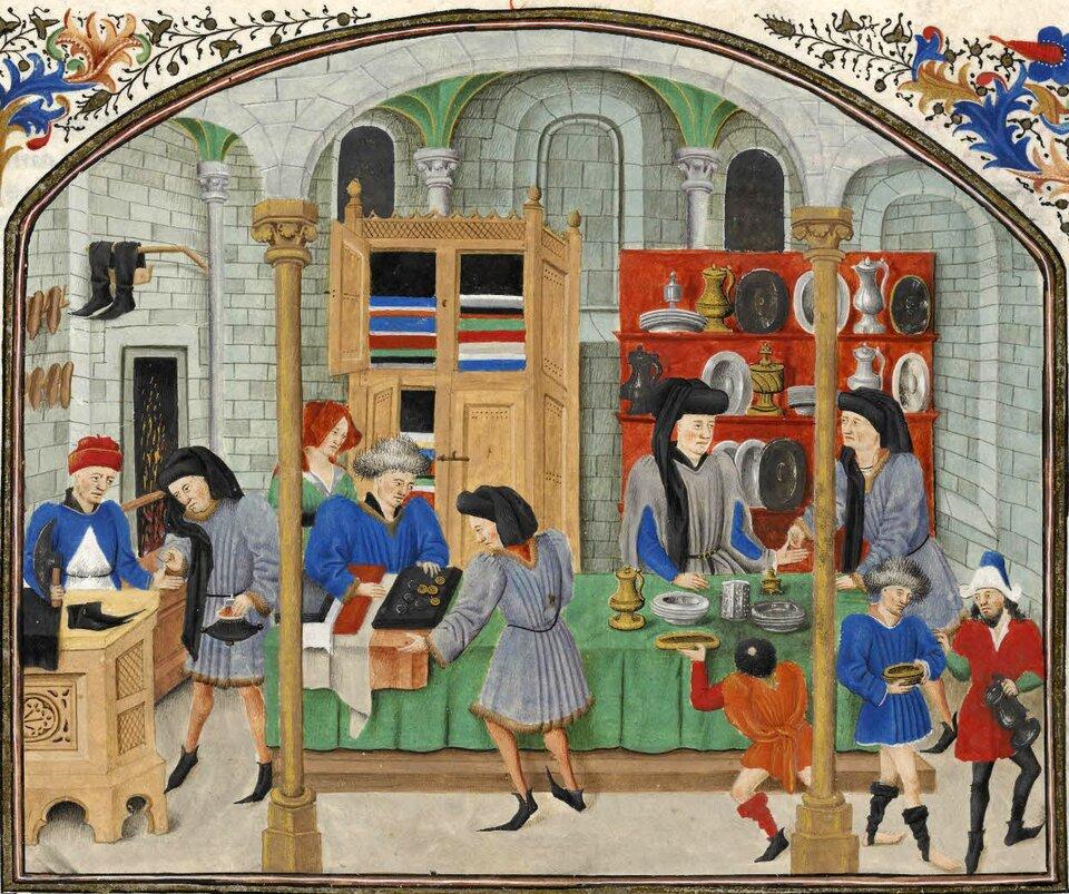 Średniowieczny targ Średniowieczny targ Źródło: domena publiczna.