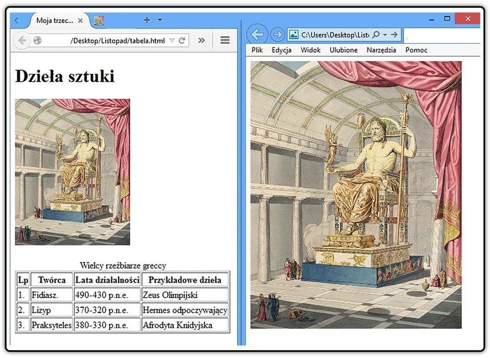Zrzut ekranu zprzykładową odpowiedzią do zadania.