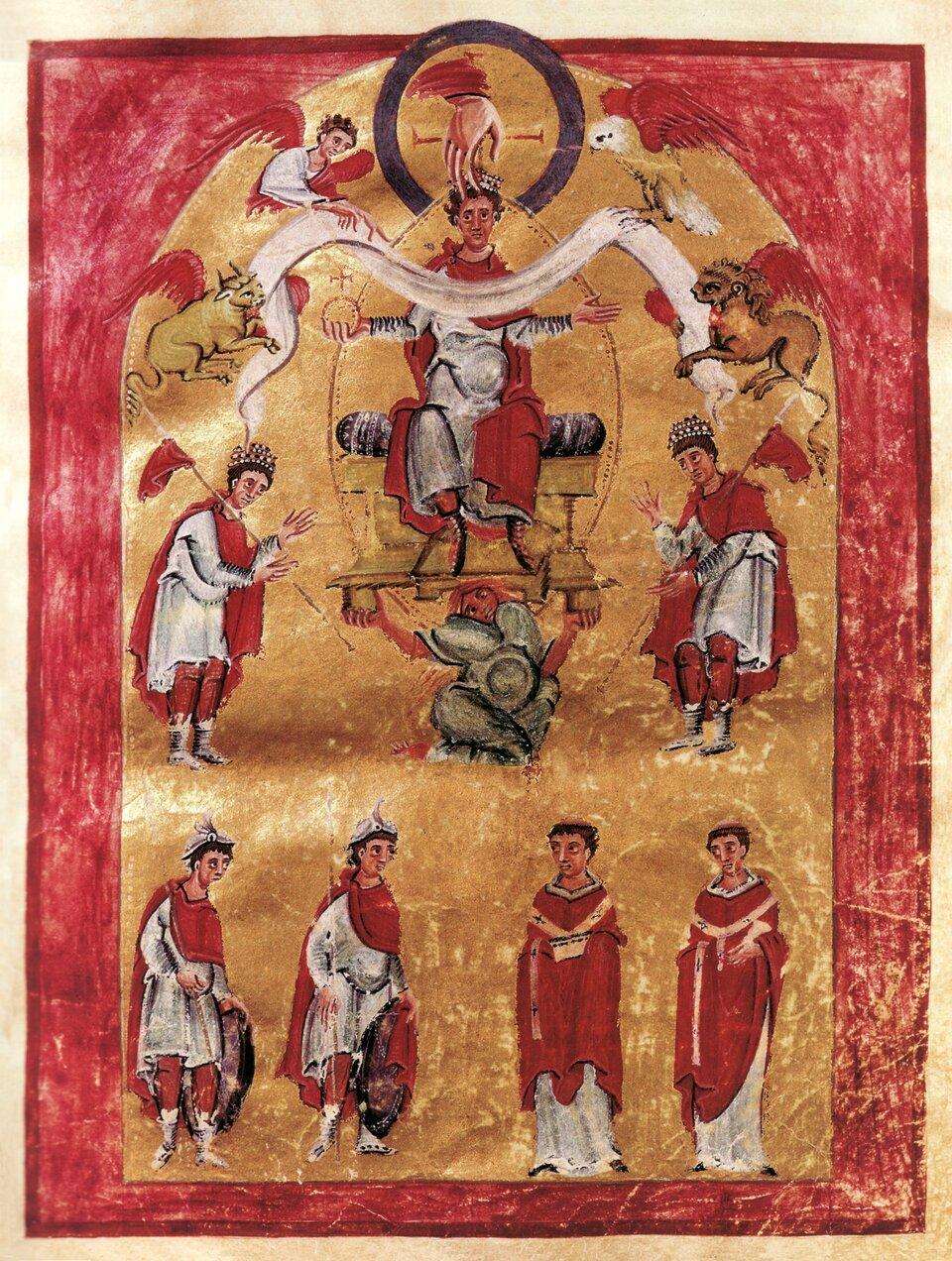 Koronacja Ottona III zKodeksu Liuthara Koronacja Ottona III zKodeksu Liuthara