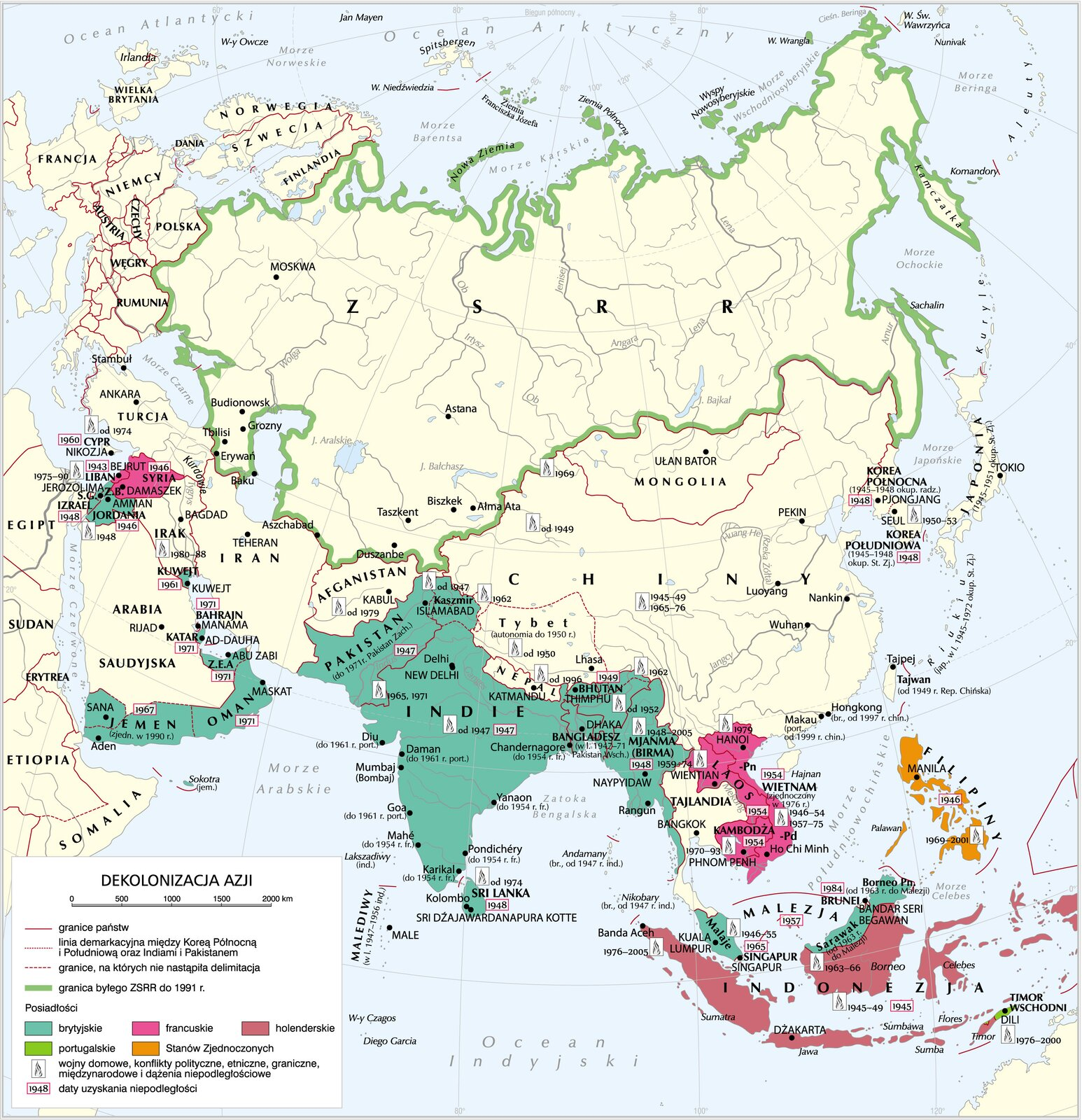 Dekolonizacja Azji Dekolonizacja Azji Źródło: Krystian Chariza izespół.