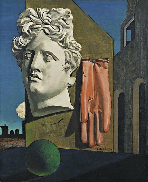 2. Giorgio de Chirico, Pieśń miłosna, 1914, oej na płótnie, 73 x59 cm, Museum of Modern Art, Nowy Jork 2. Giorgio de Chirico, Pieśń miłosna, 1914, oej na płótnie, 73 x59 cm, Museum of Modern Art, Nowy Jork Źródło: domena publiczna, [online], dostępny winternecie: http://en.wikipedia.org/wiki/File:De_Chirico's_Love_Song.jpg [dostęp 25.10.2015 r.].