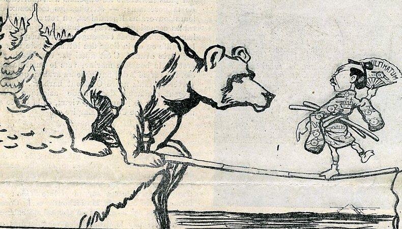 Francuska karykatura Źródło: Francuska karykatura, 1904, domena publiczna.