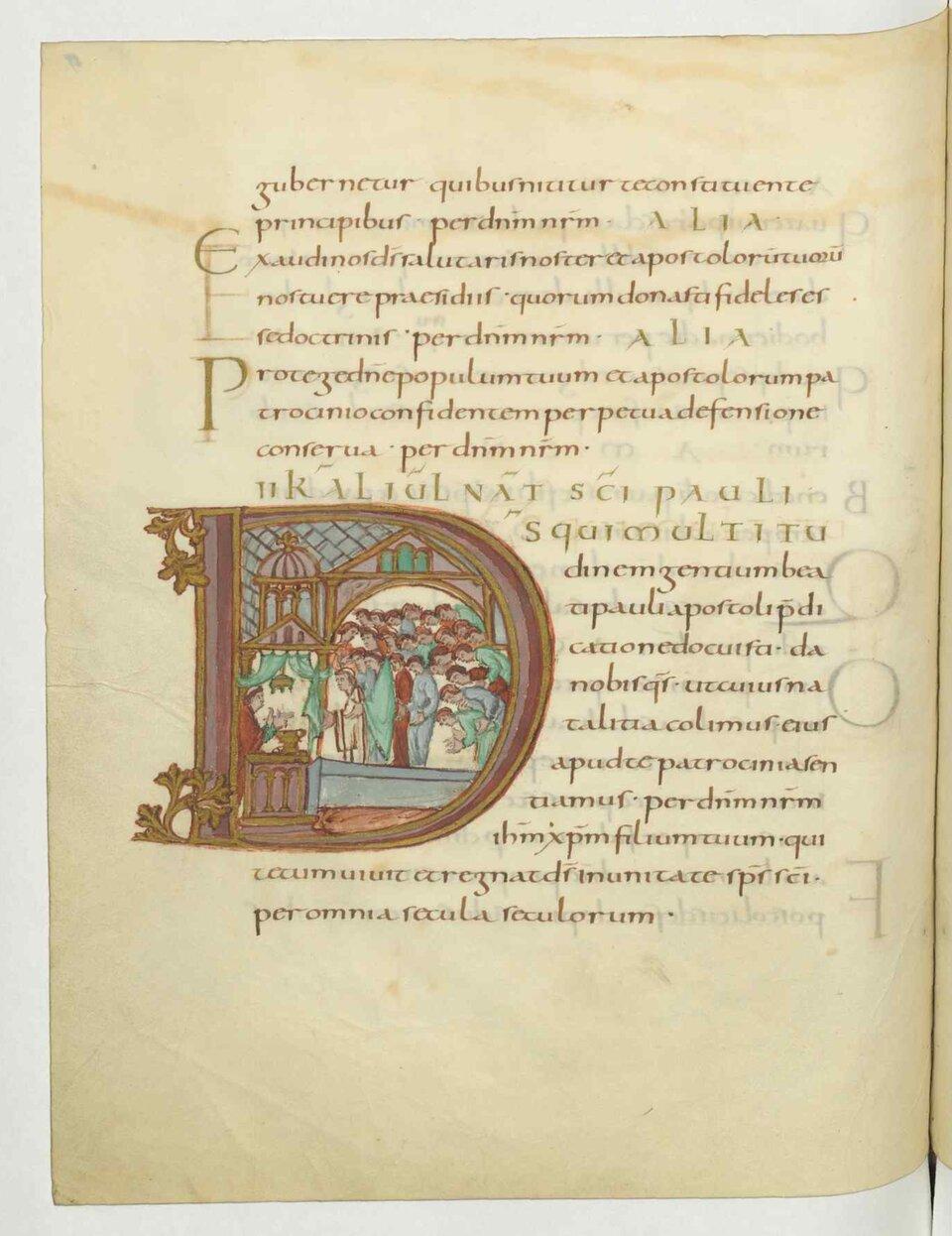 Strona zksięgi liturgicznej Strona zksięgi liturgicznej