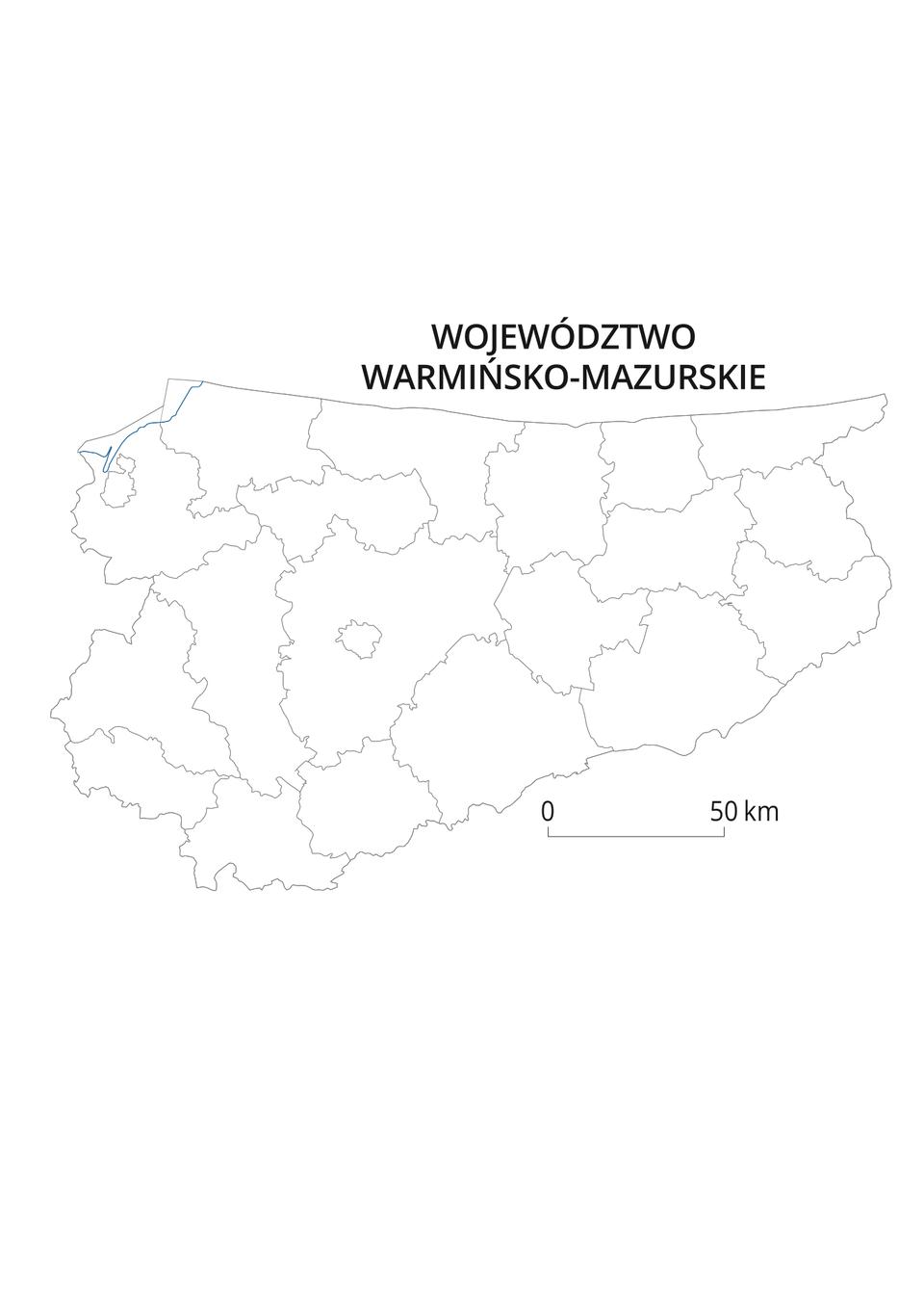 Mapy konturowe województw