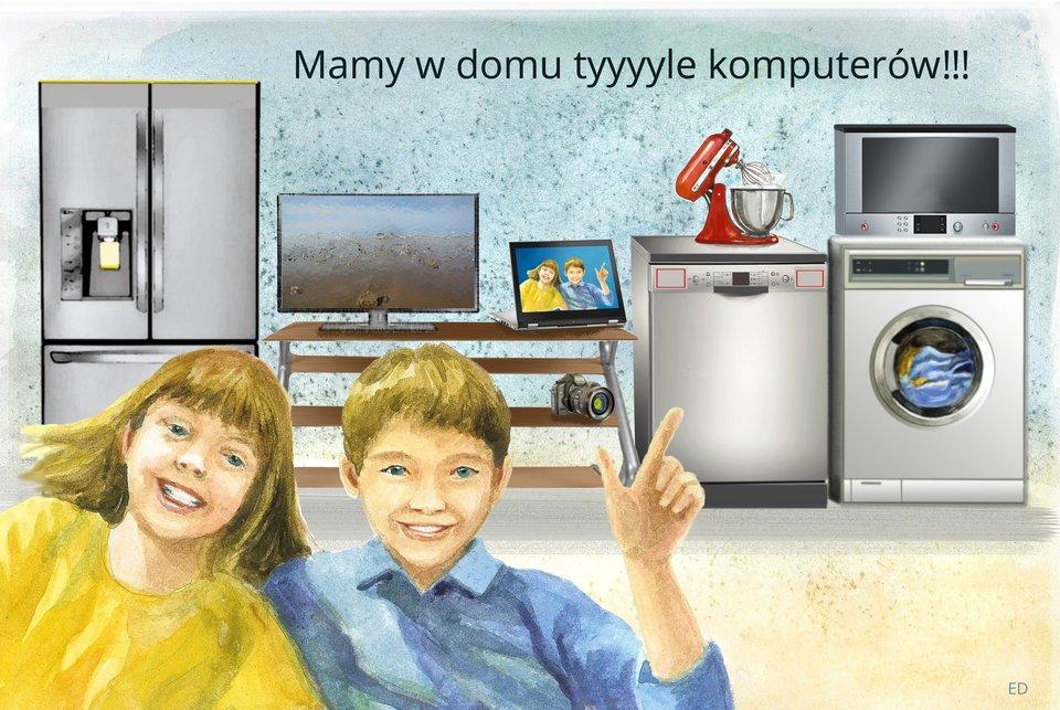 Ilustracja przedstawiająca sprzęt gospodarstwa domowego