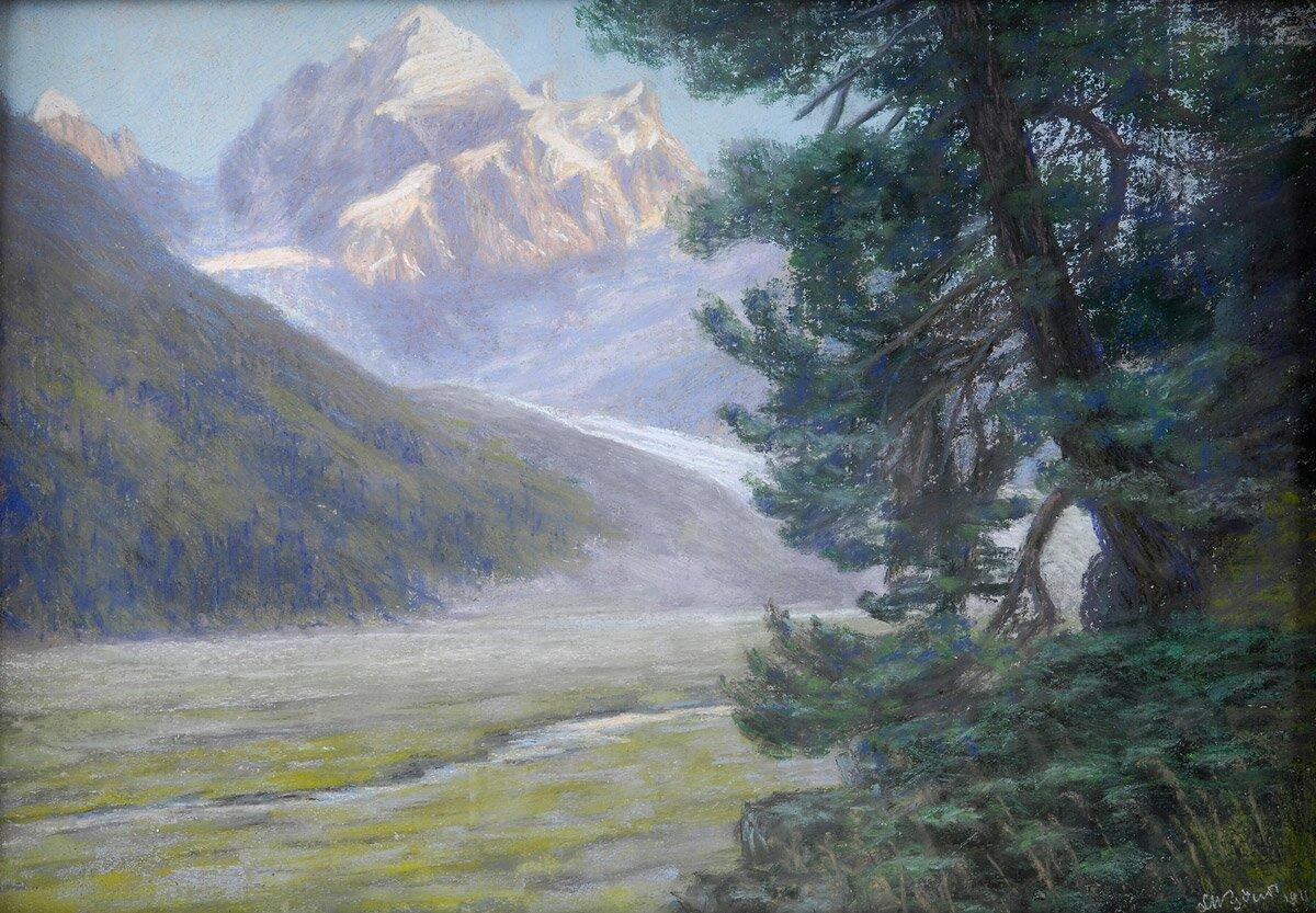 Tatry Źródło: Leon Wyczółkowski, Tatry, 1911, pastel, domena publiczna.