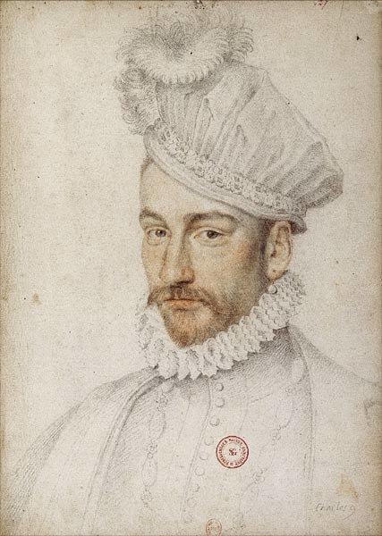 Karol IX, król Francji Karol IX (ur. 1550, król od 1560 zm. 1574); portret autorstwa FrançoisClouet powstał ok. 1570 r. Źródło: François Clouet, Karol IX, król Francji, ok. 1570, Francuska Biblioteka Narodowa, domena publiczna.