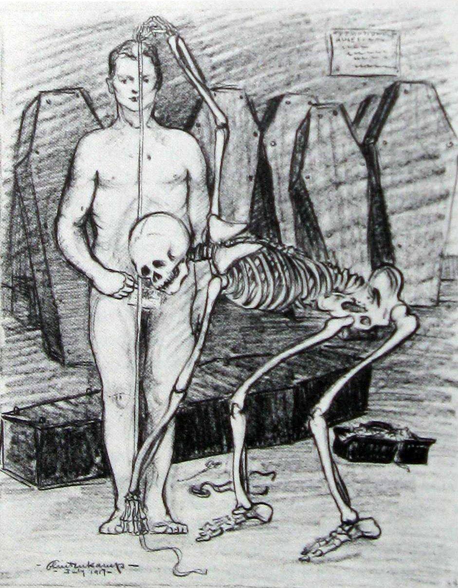 Branie miary Źródło: Henry J. Glintenkamp, Branie miary, 1917, domena publiczna.