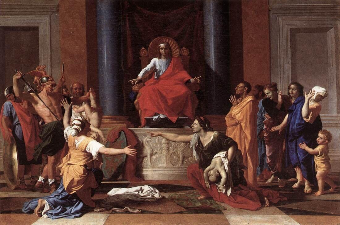 Sąd Salomona Sąd Salomona Źródło: Nicolas Poussin, 1649, domena publiczna.