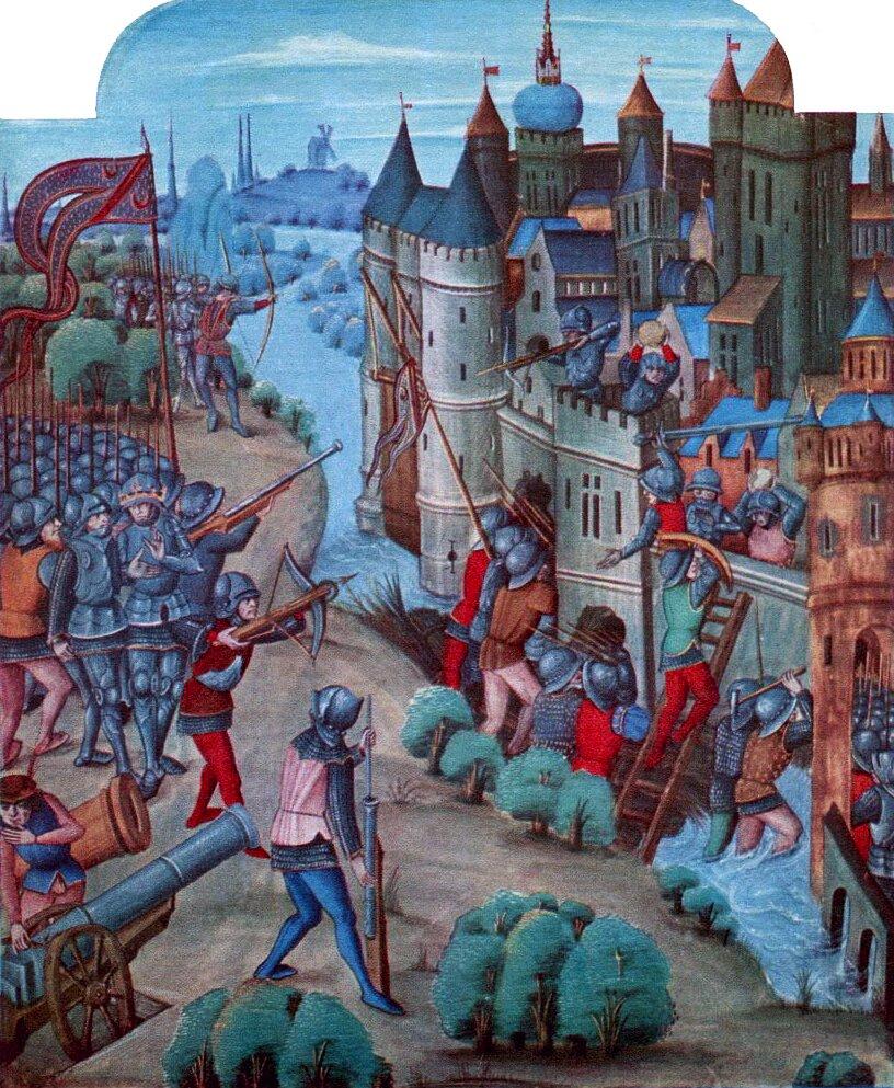 Oblężenie zamku Oblężenie zamku Źródło: XV wiek, domena publiczna.