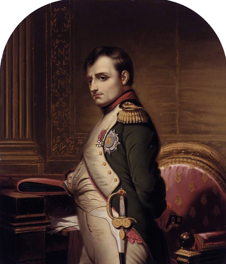 Napoleon Bonaparte Źródło: Napoleon Bonaparte, XIX wiek, domena publiczna.