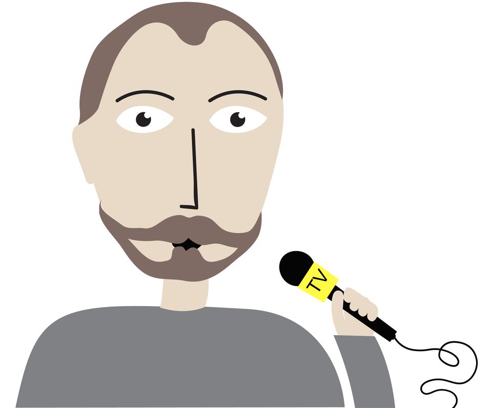 Dziennikarz - ilustracja Źródło: Contentplus.pl sp. zo.o., licencja: CC BY 3.0.