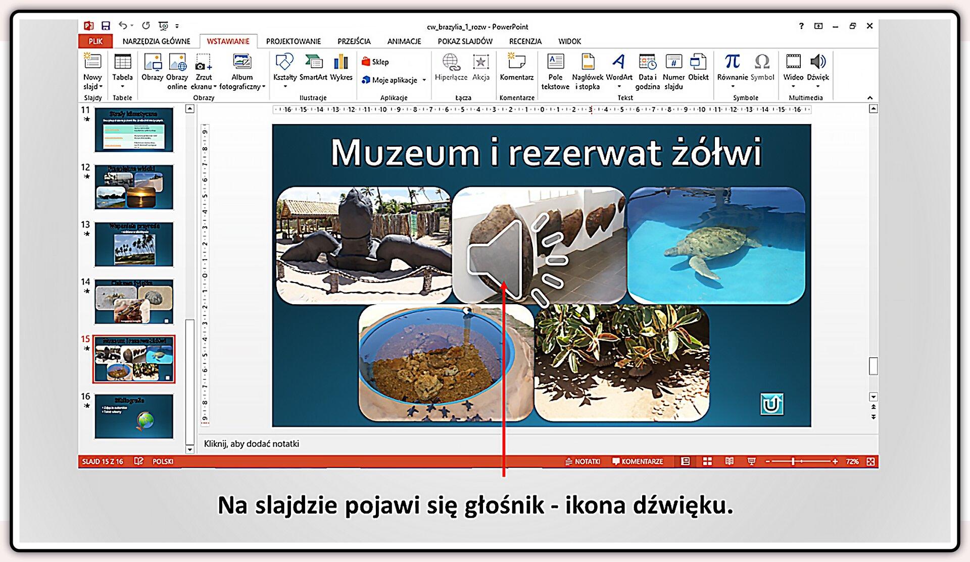Slajd 5 galerii slajdów pokazu: Nagrywanie komentarza do prezentacji wprogramie MS PowerPoint