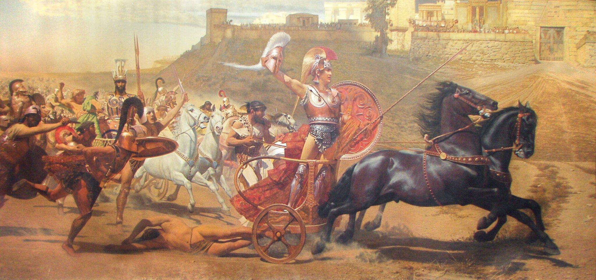 Triumfujący Achilles Źródło: Franz von Matsch, Triumfujący Achilles, domena publiczna.