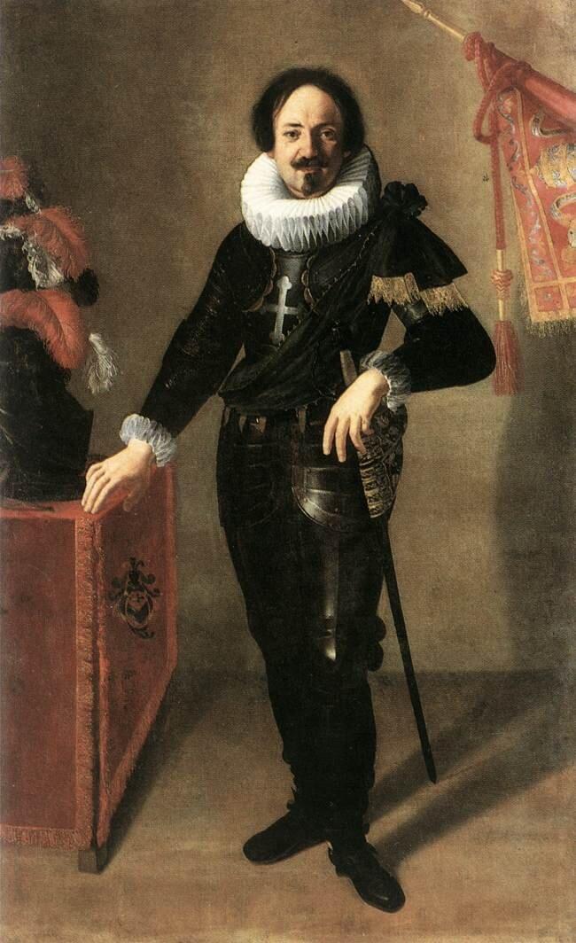 Portret kondotiera Źródło: Artemisia Gentileschi, Portret kondotiera, 1622, olej na płótnie, Palazzo d'Accursio, domena publiczna.