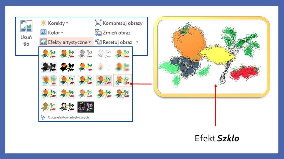 Slajd 10 galerii zrzutów slajdów: Modyfikacja obiektów wprogramie MS PowerPoint