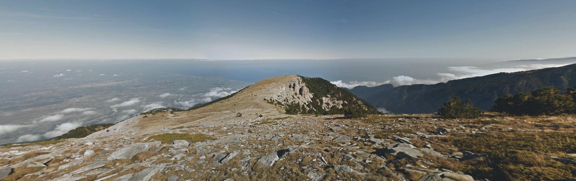Widok ze szczytu góry Olimp Widok ze szczytu góry Olimp Źródło: domena publiczna.