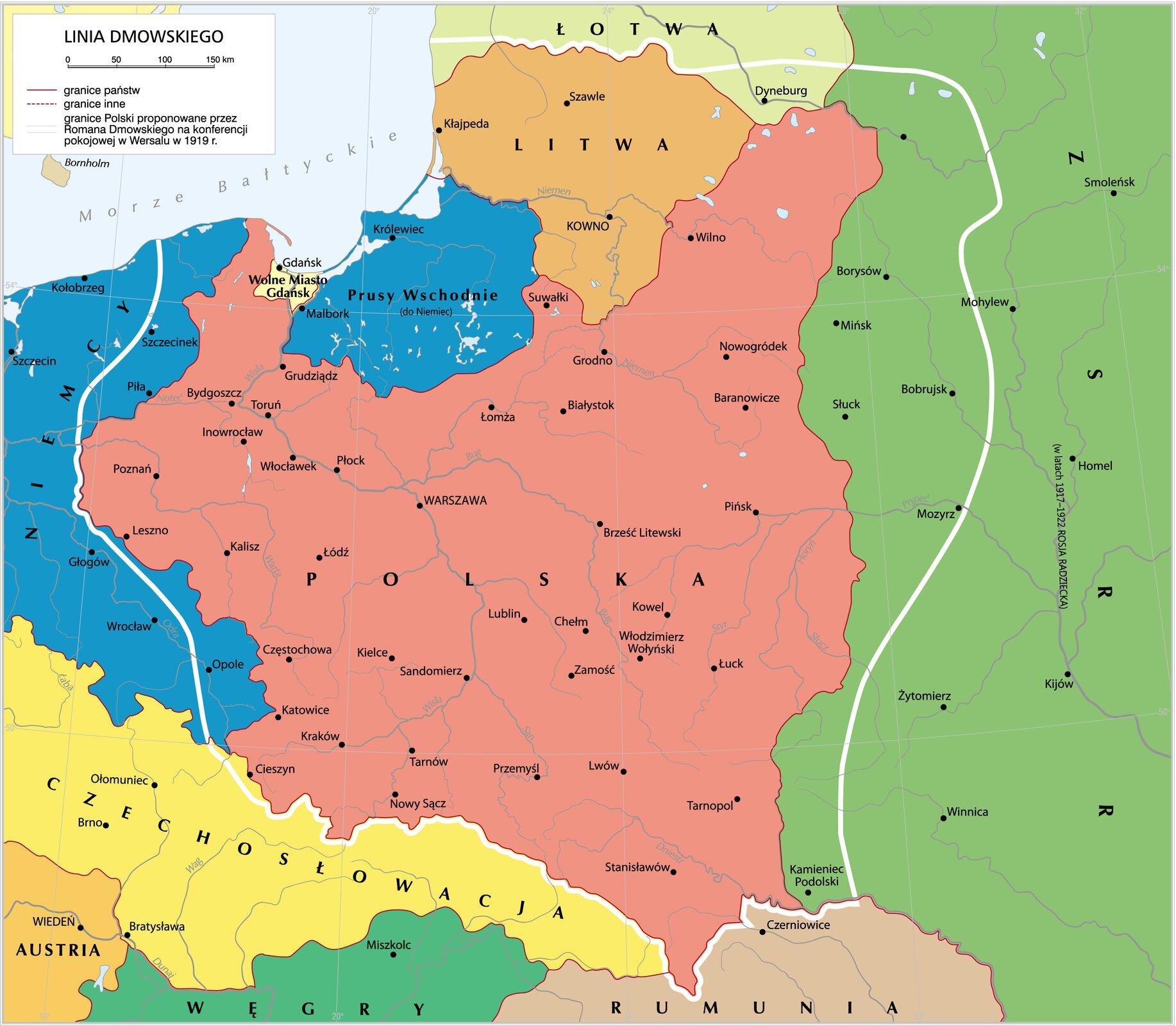 Linia Dmowskiego Linia Dmowskiego Źródło: Krystian Chariza izespół, licencja: CC BY 3.0.