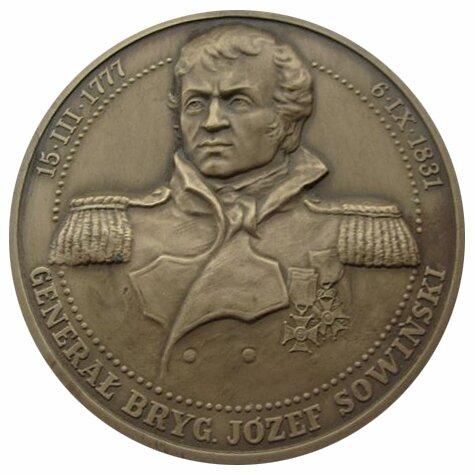 Medal gen. Józefa Sowińskiego (awers) Medal gen. Józefa Sowińskiego (awers) Źródło: domena publiczna.