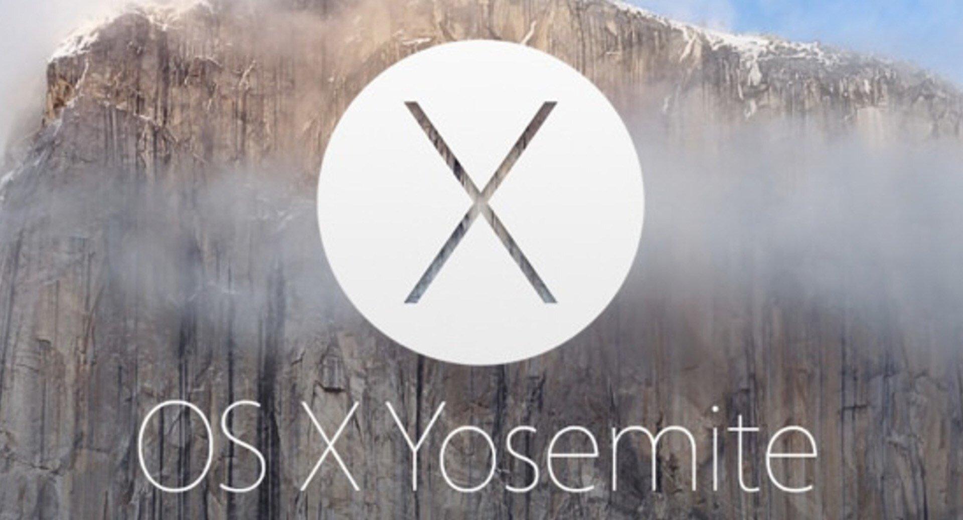Zrzut ekranu powitalnego OS XYosemite