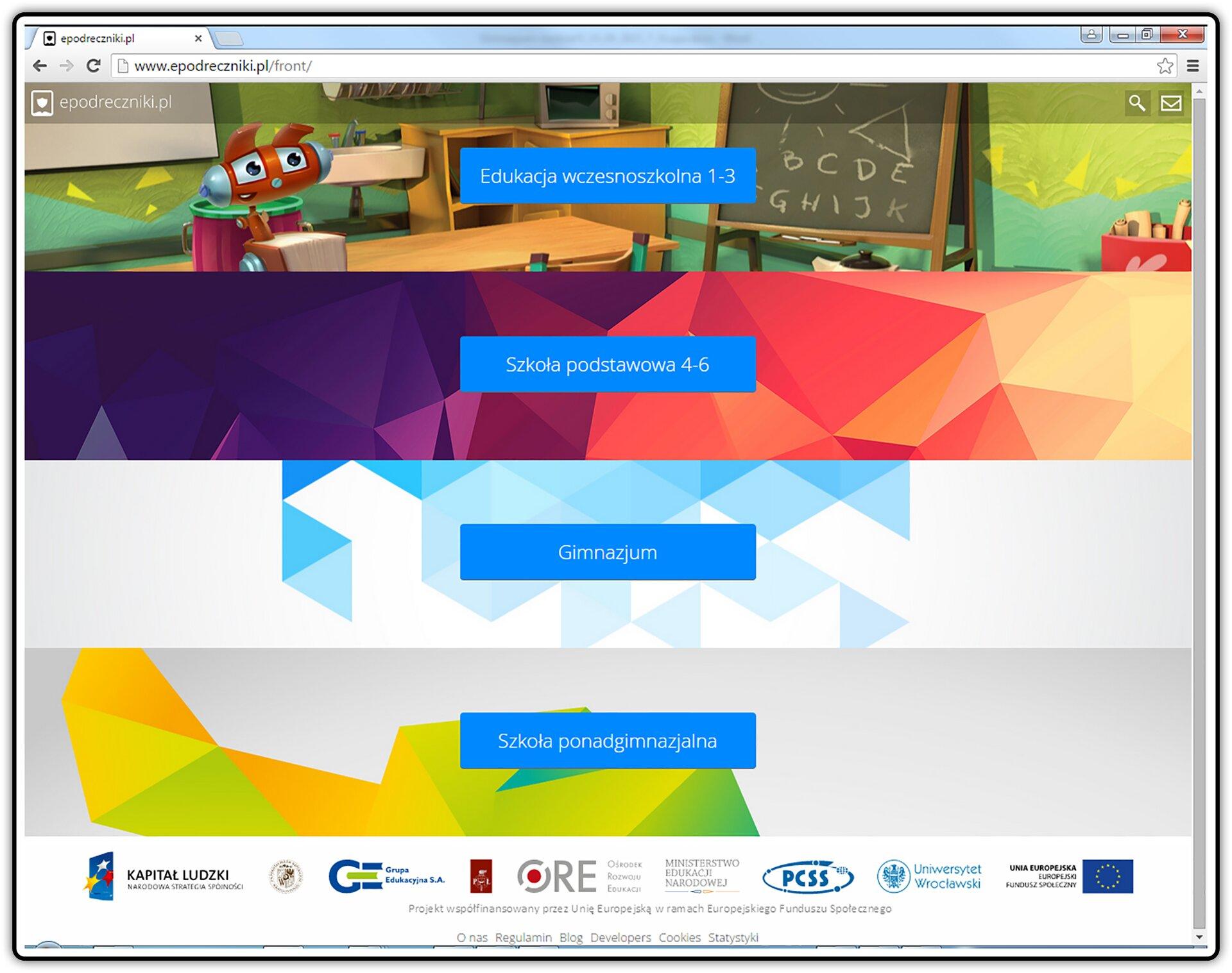 Zrzut strony internetowej: epodreczniki.pl