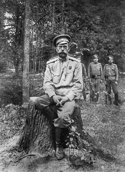 Mikołaj II po abdykacji Źródło: Mikołaj II po abdykacji, 1917, domena publiczna.