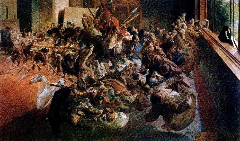 Melancholia Źródło: Jacek Malczewski, Melancholia, 1890–1894, olej na płótnie, Muzeum Narodowe wPoznaniu, domena publiczna.