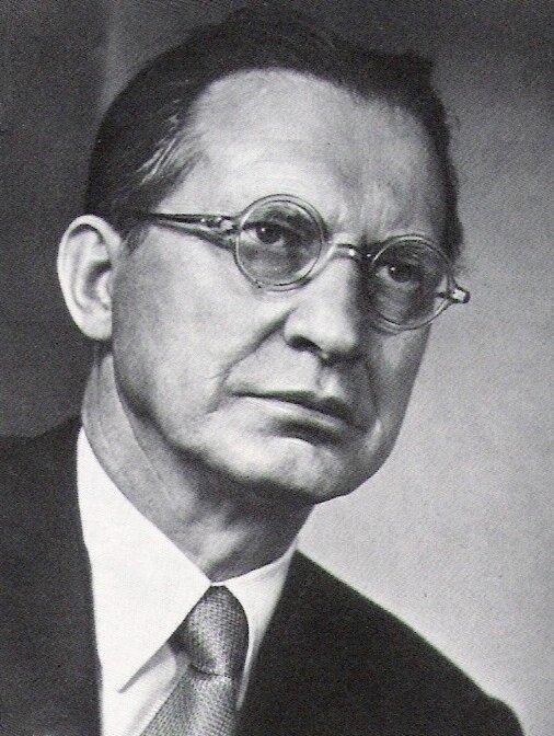 Alcide de Gasperi Źródło: Alcide de Gasperi, 1953, fotografia, domena publiczna.