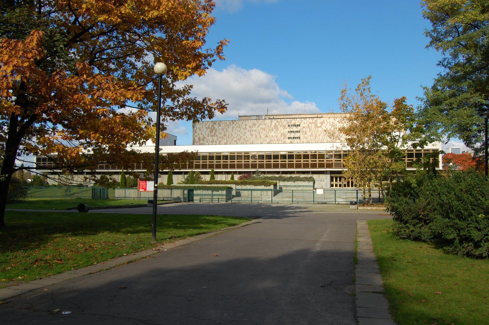Budynek Biblioteki Narodowej wWarszawie Budynek Biblioteki Narodowej wWarszawie Źródło: Marcin Białek, Wikimedia Commons, licencja: CC BY-SA 3.0.