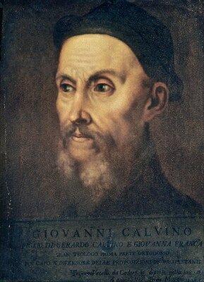 Jan Kalwin Źródło: Tycjan, Jan Kalwin, XVI w., olej na płótnie, domena publiczna.