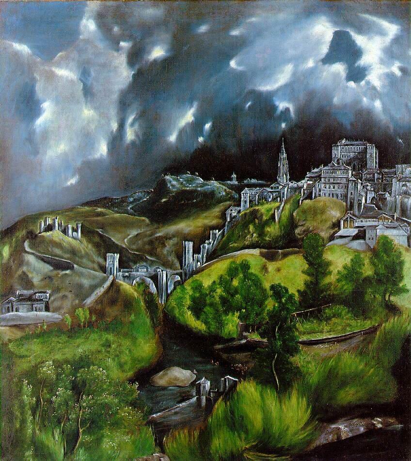 Widok Toledo Źródło: El Greco, Widok Toledo, olej na płótnie, Metropolitan Museum of Art, domena publiczna.