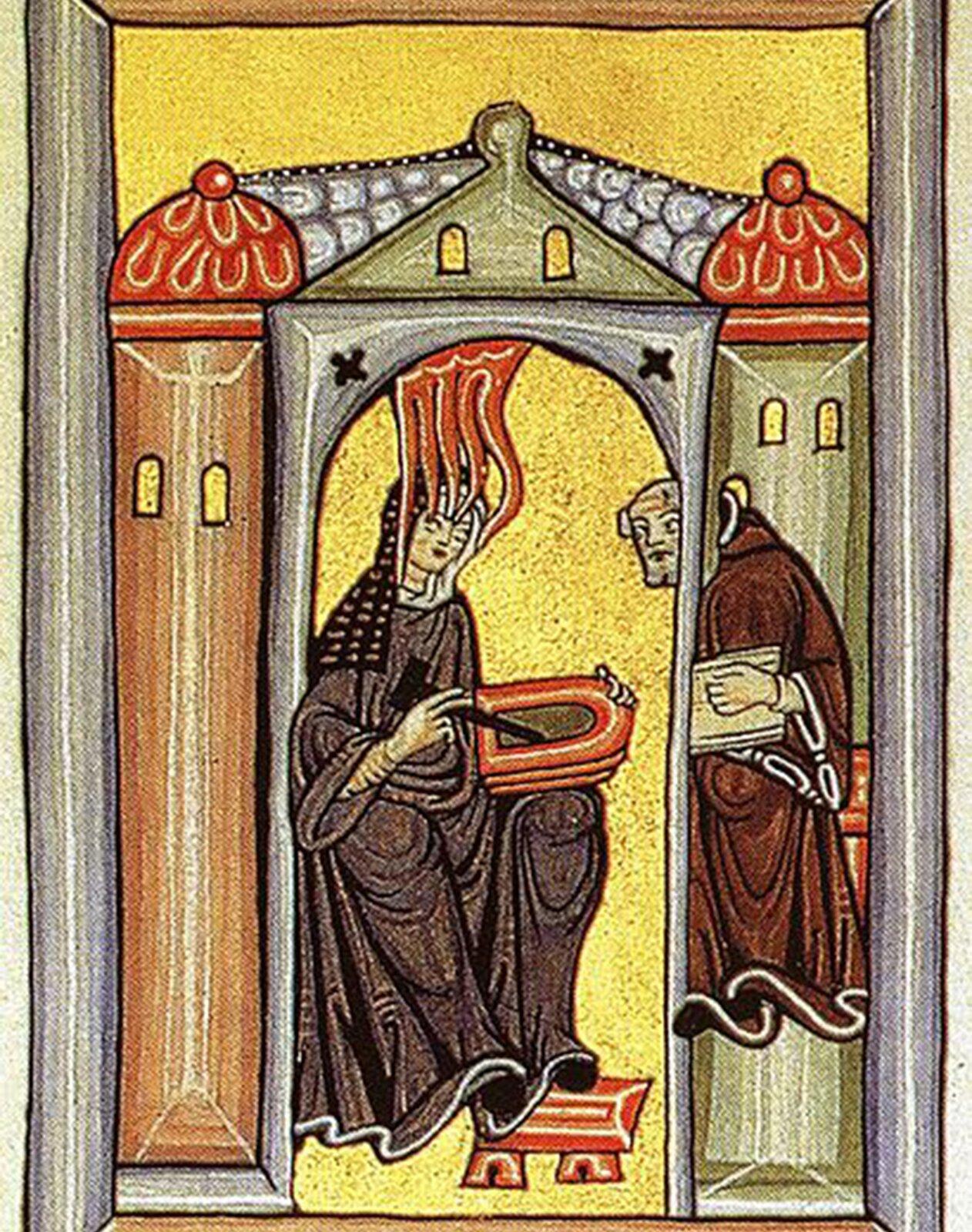 Hildegarda zBingen Hildegarda zBingen Źródło: domena publiczna.