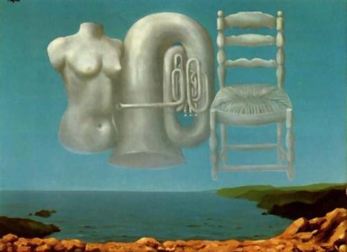 René Magritte, Groźna pogoda, 1929, olej na płótnie, 54 x73 cm, Scottish National Gallery of Modern Art, Edynburg René Magritte, Groźna pogoda, 1929, olej na płótnie, 54 x73 cm, Scottish National Gallery of Modern Art, Edynburg Źródło: René Magritte, olej na płótnie, National Gallery of Modern Art, Edynburg, domena publiczna, [online], dostępny winternecie: http://www.wikiart.org/en/rene-magritte/threatening-weather-1929 [dostęp 25.10.2015 r.].